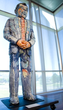 Viola Frey (1933-2004), American, Ethnic Man, 1991, Porcelain, Purchased with funds from the Phyllis Cannon Wattis Endowment for acquisition of 20th Century Art, 200.11.1 a-o
