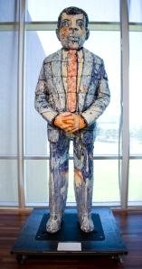 ethnic man sculpture