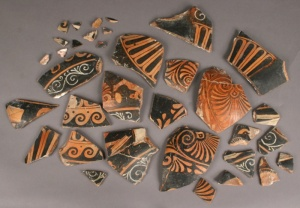 individual pottery shards