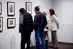 visitors viewing art