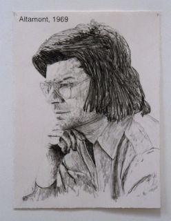 Sam Durant, Altamont 1969, 1998, graphite on paper, courtesy of the artist and Blum & Poe, Los Angeles.