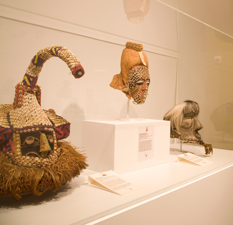 Three African masks