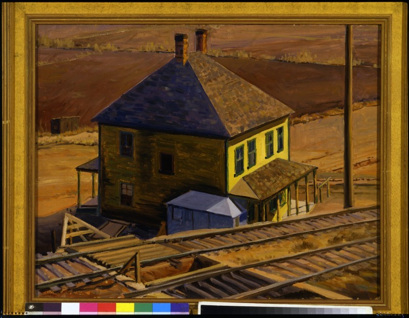 House by the Railroad Tracks by LeConte Stewart
