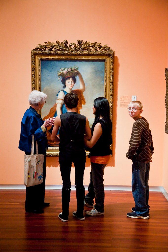 Teens on a docent guided tour