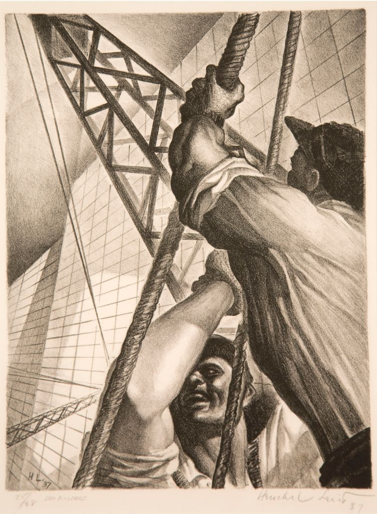 men working with a crane
