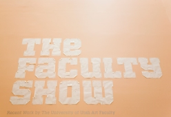 The Faculty Show title sign