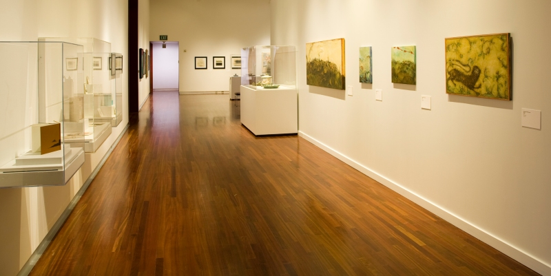 View of The Faculty Show exhibition