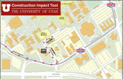 map of u of u campus