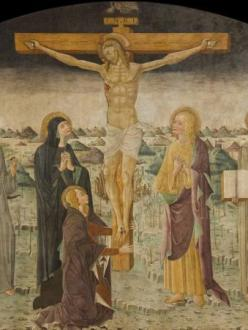 fresco of crucifixion
