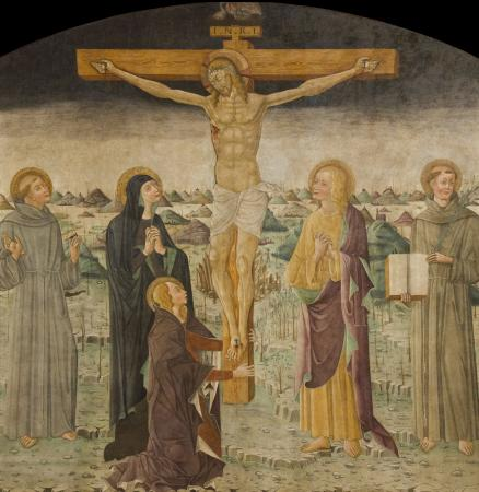 fresco of crucifixion