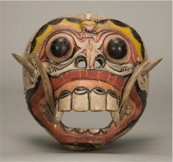 Carved wooden mask