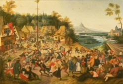 Image of Dance around the maypole by Brueghel