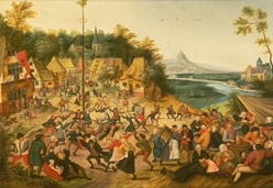 Image of Dance around the maypole by Brueghel