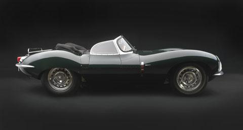image of green convertable jaguar