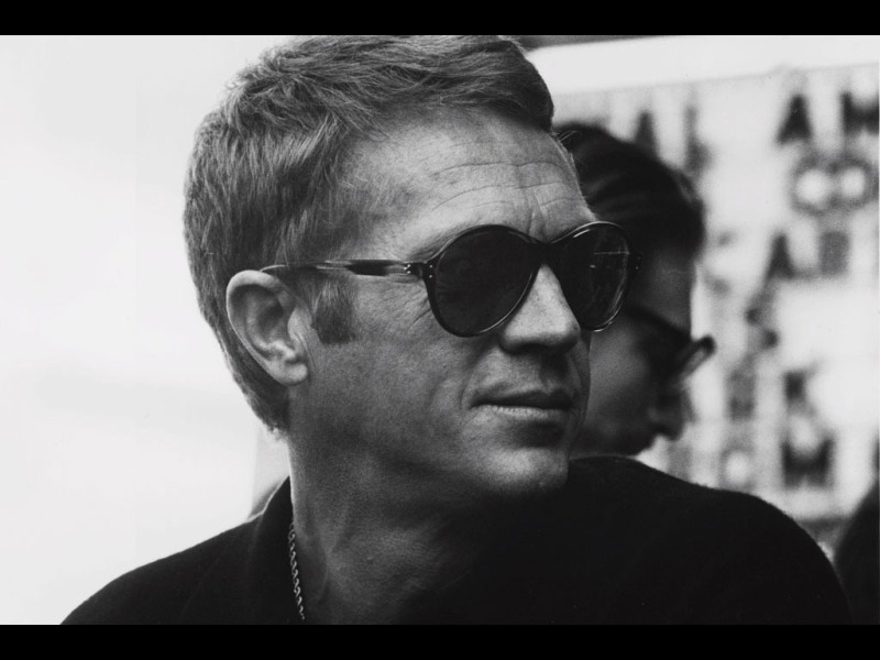 Steve McQueen wearing sunglasses