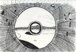 "Sean Baron ""Sun Tunnels Sketch"""