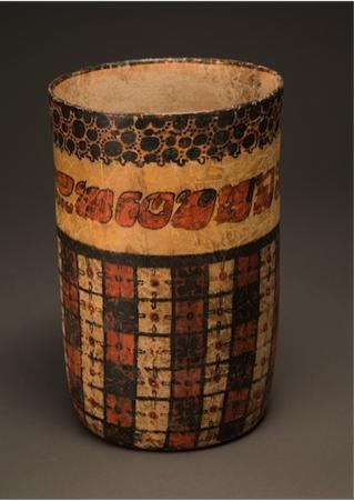 Polychrome Maya Vase