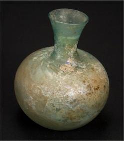 Bulb Shaped Bottle. Syrian. 200-300AD.