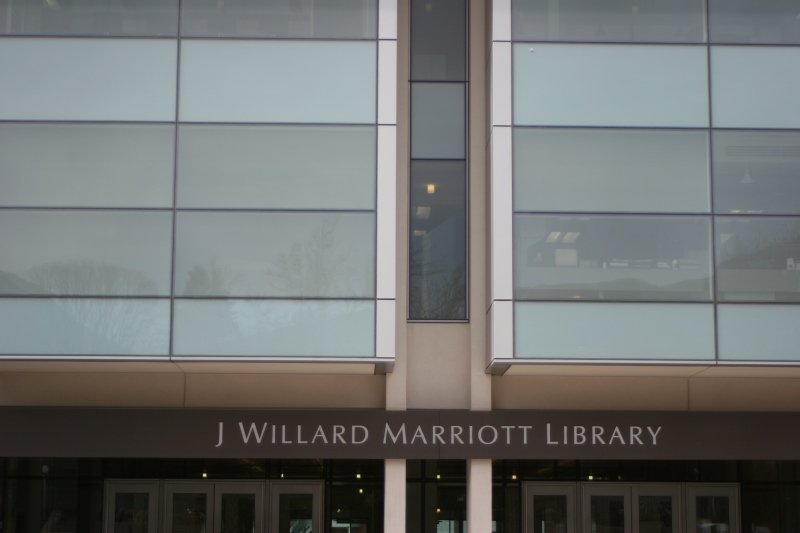 The Plaza entrance of the Marriott Library