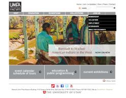 The homepage of the UMFA.