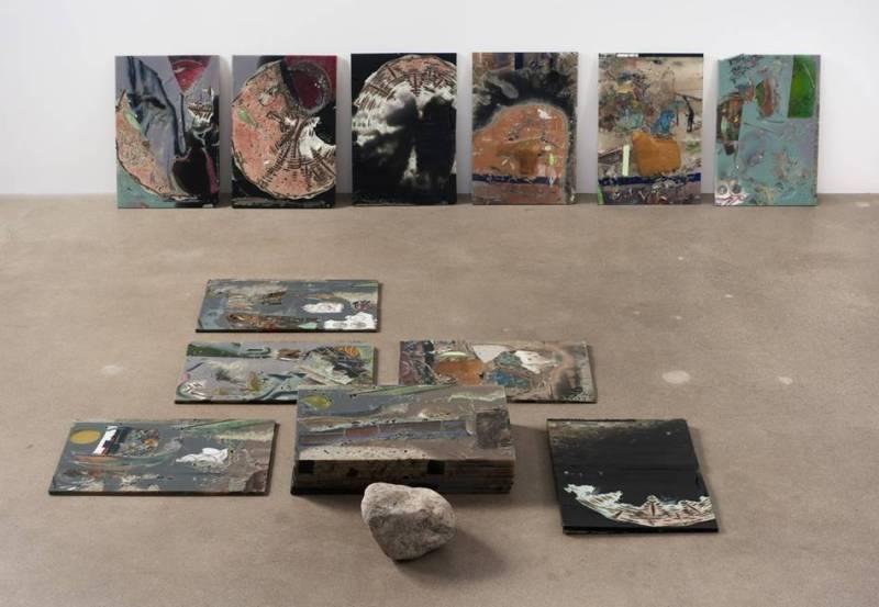 "Jedediah Caesar American, born 1973 ""* |_|_|_|_|_|_|_|_|_|_ "", 2011 Remnants, urethane, pigment, stone"
