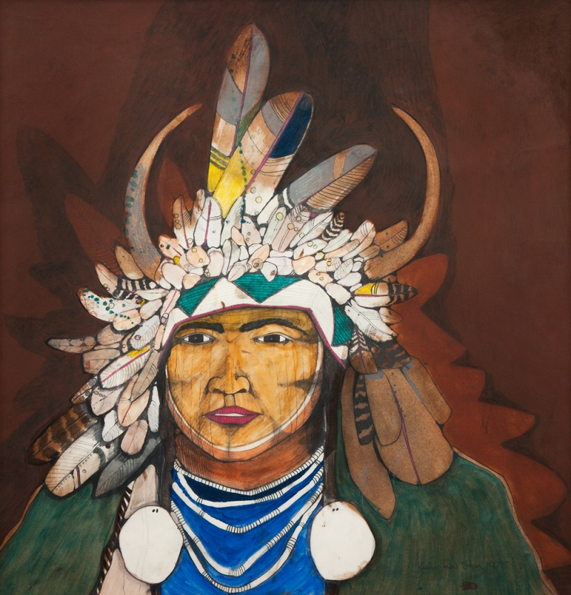"Kevin Red Star. ""Crow Indian."" 1975."