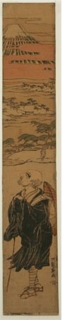 Saigyo Hoshi (poet) Contemplating Mount Fuji. 1766-1788