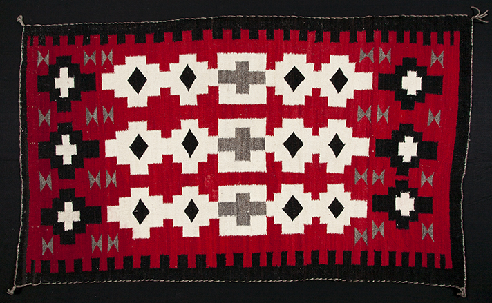 Navajo Saddle Blanket; part of the UMFA's ongoing textile restoration project