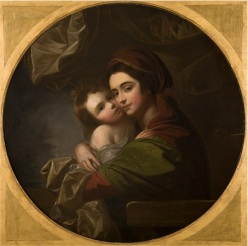 """Portrait of Mrs. Benjamin West and Her Son, Raphael."" Benjamin West, American. circa 1770."
