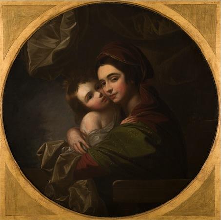 """""""Portrait of Mrs. Benjamin West and Her Son, Raphael."""" Benjamin West, American. circa 1770."""