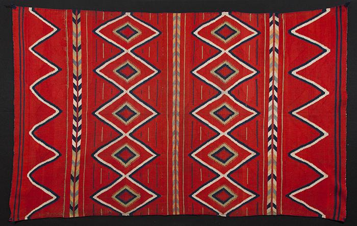 Navajo, Classic Serape Style Wearing Blanket
