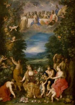 """""""An Allegory of Earth."""" Jan Brueghel the Younger, Hendrik van Balen, Flemish. 1630-1635"""