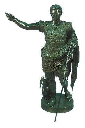 """Caesar Agustus"" (after Augustus of Primaporta). ca. 20 BC. Benedetto Boschetti. Italian."