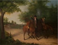 """The Ambush of Captain Allen McLane."" James Peale. American. 1803"