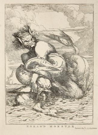 """""""Enrag'd Monster."""" John Hamilton Mortimer, English. 1778"""