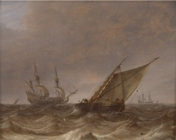 """Stormy Seascape."" Pieter Mulier the Elder, Dutch"