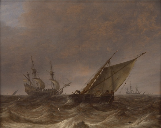 """Stormy Seascape."" Pieter Mulier the Elder, Dutch"