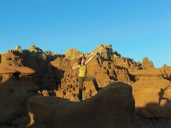 Adrien Mooney enjoying Goblin Valley