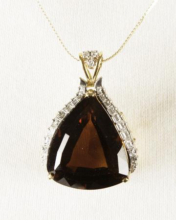 Brooch/Pendant Quatrz and Diamonds. Bequest of Dolores Dore (Mrs. George S.) Eccles