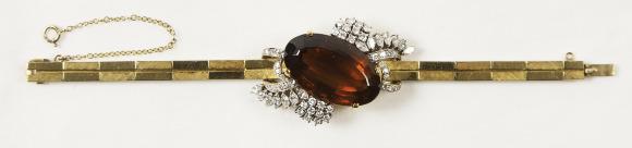 Diamonds and Quartz Bracelet. Bequest of Dolores Dore (Mrs. George S.) Eccles.
