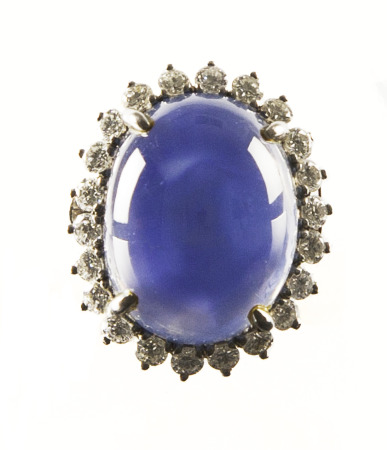 Lady's Star Sapphire Ring.  Bequest of Dolores Dore (Mrs. George S.) Eccles.