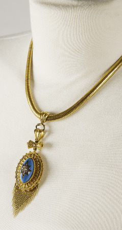Necklace. Gift of Mrs. JP (Virginia) Gibbons