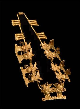Necklace with Double Bat Effigies. Pre-Columbian.