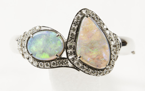 Opal and Diamond Bracelet. Bequest of Dolores Dore (Mrs. George S.) Eccles.
