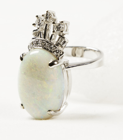Ring Opal and Diamonds; Bequest of Dolores Dore (Mrs. George S.) Eccles