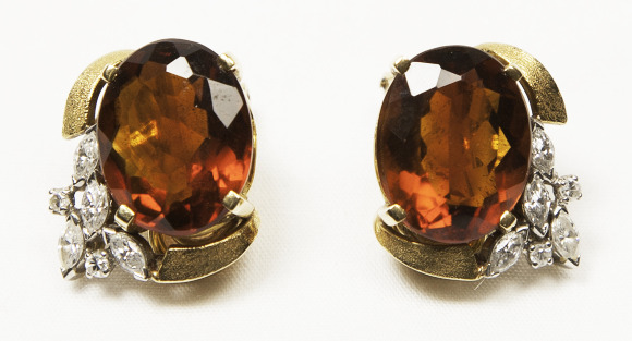 Quartz and Diamond Earrings. Bequest of Dolores Dore (Mrs. George S.) Eccles