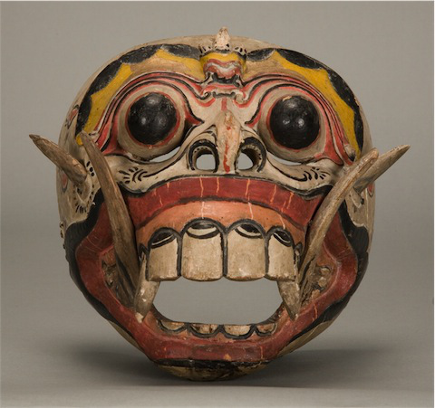 Bali, Barong Dance Mask, Rangda the Witch Queen, C. 1970, Wood, paint, Gift of Owen D. Mort, Jr.