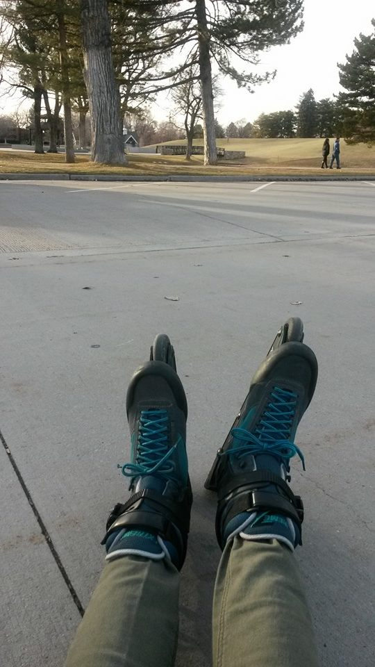 William rollerblading in Liberty Park