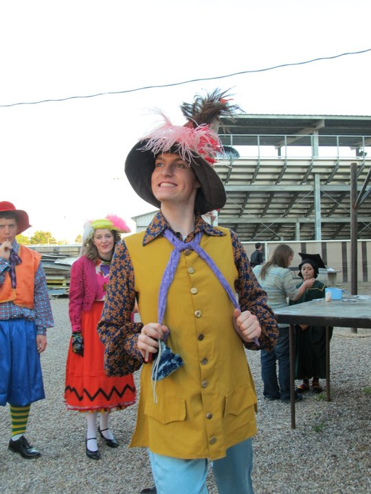 William in costume for Wizard of Oz, by the Outlaw Trail Theater Company Summer 2011