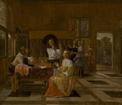 "Hendrick van der Burch. . Dutch. ""A Musical Party."" Gift of Val A. Browning"